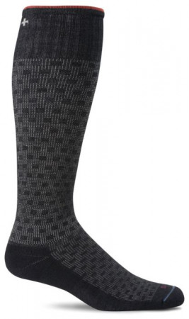 Sockwell Compressiekousen Shadow Box Heren Zwart