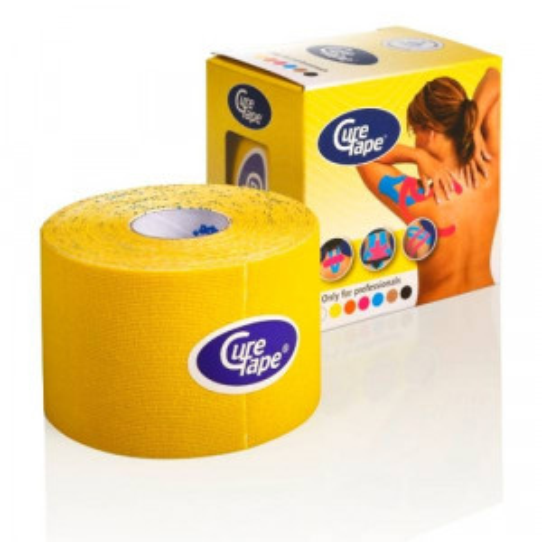 CureTape 5 cm x 5 meter (geel)