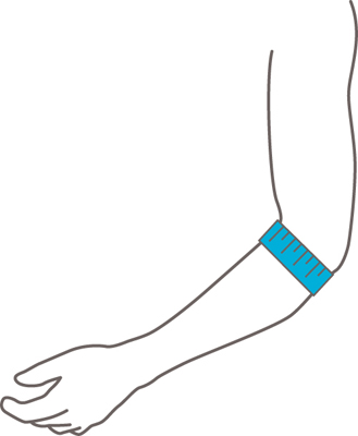 Push Med Elleboogbrace meetinstructie